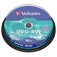 Диск DVD Verbatim 4.7Gb 4x Cake box 10шт (43552). 48119