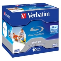 Диск BD Verbatim DL 50Gb 6x Jewel 10шт Wide Printabl (43736). 46410