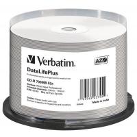 Диск CD Verbatim 700Mb 52x Cake box Printable (43745). 48103