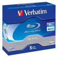Диск BD Verbatim DL 50Gb 6x Jewel Case 5шт (43748). 46413