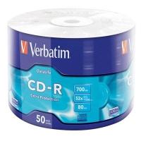 Диск CD Verbatim 700Mb 52x Wrap-box Extra (43787). 48089