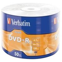 Диск DVD Verbatim 4.7Gb 16X Wrap-box 50pk Extra MATT SILVER (43791). 48120