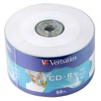 Диск CD Verbatim 700Mb 52x WrapTape Extra PRINTABLE (43794). 48101