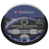 Диск BD Verbatim 25Gb 4x Cake 10pcs Printable M-DISC (43825). 46411