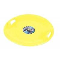 Санки Plastkon ледянка Superstar желтые (44663) Pattern . 48565