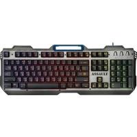 Клавиатура Defender Assault GK-350L RU USB Grey-Metall (45350). 42542