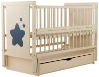 Кровать Babyroom Звездочка Z-03 маятник, ящик, откидной бок  бук слоновая кость. 34097