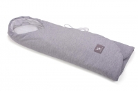 Детский конверт в коляску и автокресло Cottonmoose ODWF 439/49/51 melange cotton jersey white cotton jersey (серый меланж). 31365