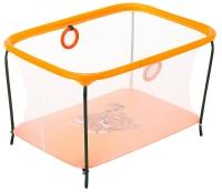 Манеж Qvatro LUX-02 мелкая сетка  оранжевый (tiger). 34226