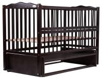 Кровать Babyroom Веселка маятник, откидной бок DVMO-2  бук венге. 34040