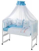 Детская постель Babyroom Bortiki Print-08  blue train. 33385