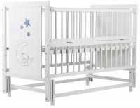Кровать Babyroom Медвежонок M-02 маятник, откидной бок  бук белый. 34100