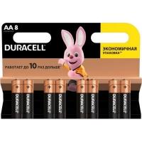 Батарейка Duracell AA MN1500 LR06 * 8 (5000394006522 / 81417083 / 81480361). 47387