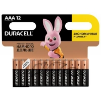 Батарейка Duracell AAA MN2400 LR03 * 12 (5000394109254 / 81545432). 47375