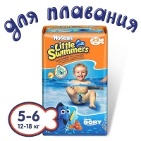 Подгузник Huggies Little Swimmer 5-6 (12-18 кг) 11 шт (5029053538426). 47956