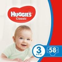 Подгузник Huggies Classic 3 Jumbo 58 шт (5029053543109). 47978