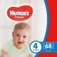 Подгузник Huggies Classic 4 Mega 68 шт (5029053543154). 47967