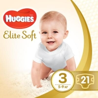 Подгузник Huggies Elite Soft 3 Small 21 шт (5029053546308). 47984