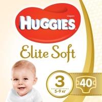Подгузник Huggies Elite Soft 3 (5-9 кг ) Jumbo 40 шт (5029053547770). 47986