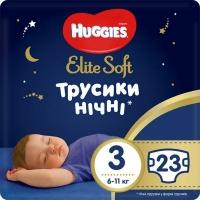 Подгузник Huggies Elite Soft Overnites 3 (6-11 кг) 23 шт (5029053548159). 47987