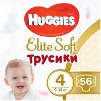 Подгузник Huggies Elite Soft Pants L размер 4 (9-14 кг) Giga 56 шт (5029053548340). 47971
