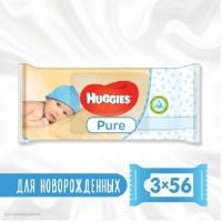 Влажные салфетки Huggies Ultra Comfort Pure 56 х 3 шт (5029053550091). 47950