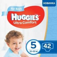 Подгузник Huggies Ultra Comfort 5 Jumbo для мальчиков (12-22 кг) 42 шт (5029053565408). 48582