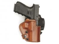 Кобура Front Line LKC для Glock 19/23/32. Материал - Kydex/кожа/замша. Цвет - коричневый. 23702234