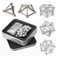 Магнитный конструктор неодимовый бакибарс, серебряный F&D. 49071