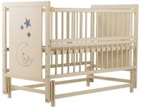 Кровать Babyroom Медвежонок M-02 маятник, откидной бок  бук слоновая кость. 34101