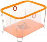 Манеж Qvatro Солнышко-02 мелкая сетка  оранжевый (tiger). 34250