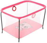 Манеж Qvatro LUX-02 мелкая сетка  розовый (panda). 34229