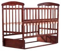Детская кровать Наталка ОТМО маятник, откидной бок  ольха темная. 31014