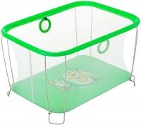 Манеж Qvatro Солнышко-02 мелкая сетка  зеленый (owl). 34240