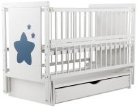 Кровать Babyroom Звездочка Z-03 маятник, ящик, откидной бок  бук белый. 34096