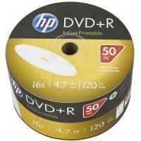 Диск DVD HP DVD-R 4.7GB 16X IJ PRINT 50шт (69302/DME00070WIP-3). 48115