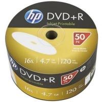 Диск DVD HP DVD+R 4.7GB 16X IJ PRINT 50шт (69304/DRE00070WIP-3). 48112