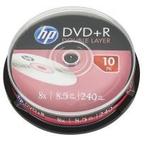 Диск DVD HP DVD+R 8.5GB 8X DL 10шт Spindle (69309/DRE00060-3). 48114