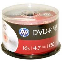 Диск DVD HP DVD-R 4.7GB 16X 50 шт Spindle (69316/DME00025-3). 48125