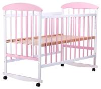 Кровать Наталка ОБР  ольха бело-розовая. 34114