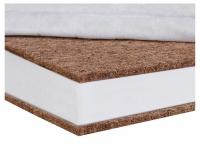 Матрас Солодких Снів Bamboo Comfort lux - 8 см. (кокос, полиуретан, кокос)  белый. 34320