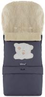 Зимний конверт Babyroom №20 с удлинением  графит (мордочка мишки штопаная). 33477