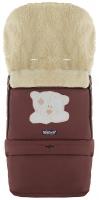 Зимний конверт Babyroom №20 с удлинением  шоколад (мордочка мишки штопаная). 33489