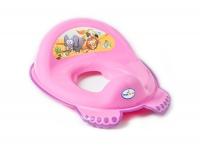 Накладка на унитаз Tega Safari SF-012 нескользящая 127 dark pink. 34468
