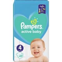 Подгузник Pampers Active Baby Maxi Размер 4 (9-14 кг), 49 шт. (8001090949851). 47923
