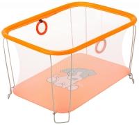 Манеж Qvatro Солнышко-02 мелкая сетка  оранжевый (dog). 34247