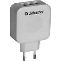 Зарядное устройство Defender UPA-30 3 порт USB + TypeC, 5V / 4A (83535). 44935