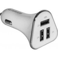 Зарядное устройство Defender UCA-04 авто,3 порта USB, 5V / 6A (83566). 44934