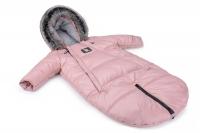 Зимний детский комбинезон-конверт, трансформер Cottonmoose Moose 0-6 M 767/111 pink (розовая пудра). 31299