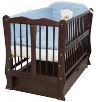 Кровать Babyroom Хвилька маятник, ящик, откидной бок DHMYO-11  бук венге. 34108